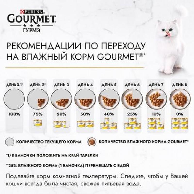 Gourmet Gold Паштет для котят (с телятиной), 85 гр