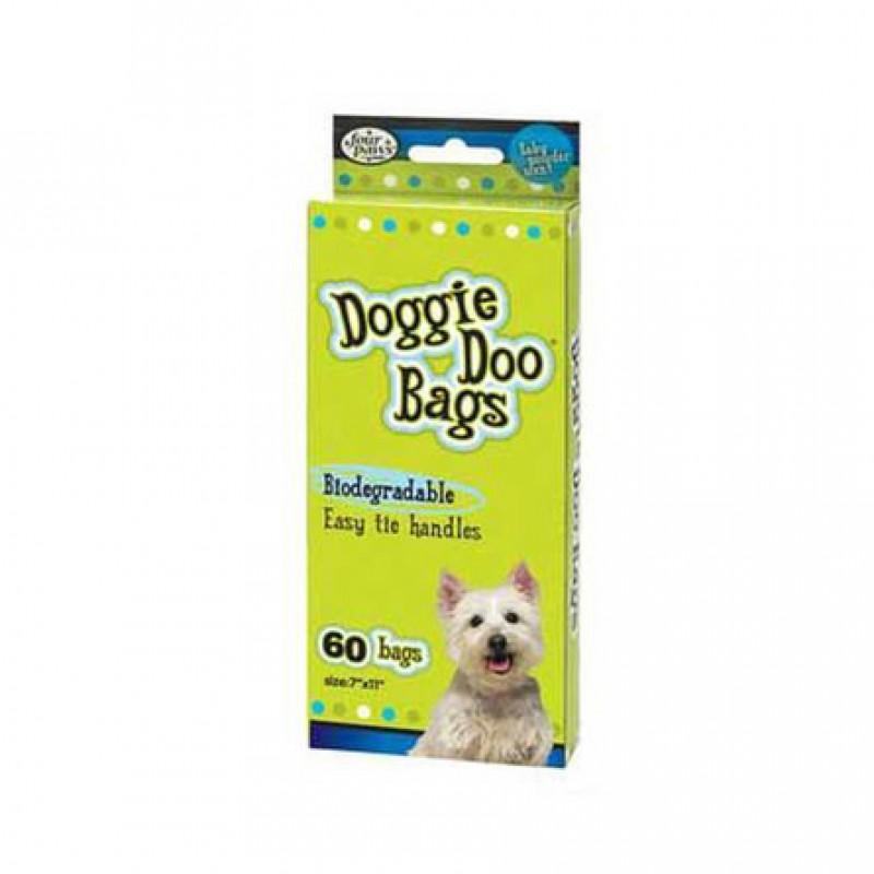 Four Paws Doggie Doo Гигиенические пакеты для уборки за животными, 60 шт